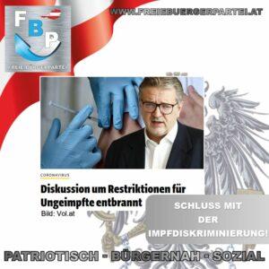 SCHLUSS MIT DER IMPF-DISKRIMINIERUNG!